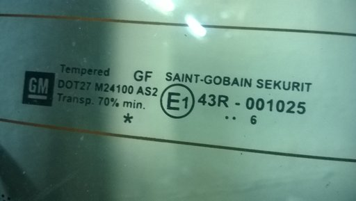 Luneta spate Opel Astra H Twintop Cod 43R001025 / 43R-001025