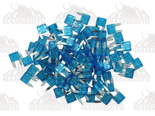 Mammooth set 100 mini sigurante 15A albastre