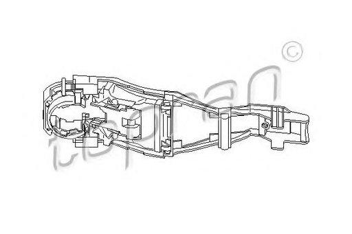 Maner usa VW GOLF IV (1J1) (1997 - 2005) TOPRAN 11