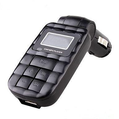 Modulator FM USB Mp3 cu telecomanda 12/24v COD 17 Negru