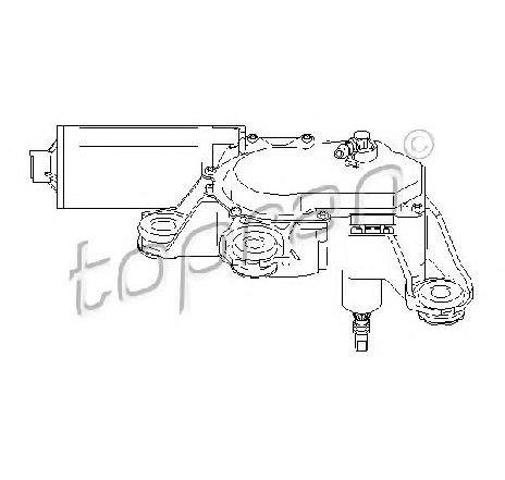 Motor stergator spate AUDI A4 Avant ( 8D5, B5 ) 11/1994 - 09/2001 - producator TOPRAN 110 741 - 303485 - Piesa Noua