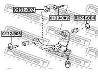 Nachlaufschale, corp axe TOYOTA HILUX autoturism de teren, inchis (RZN1, LN1) 2.7 08/2001 - 07/2004 - producator FEBEST cod produs 0131-002