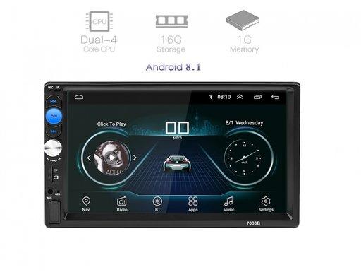 Navigație dvd mp5 2Din player auto ANDROID 8.1, GPS, Wifi, Rama- NOU