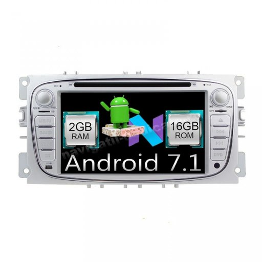 Navigatie Android 7.1 Ford Focus 2 Mondeo S-Max Tourneo Transit Quad Core Internet Carkit Usb NAVD-A9457