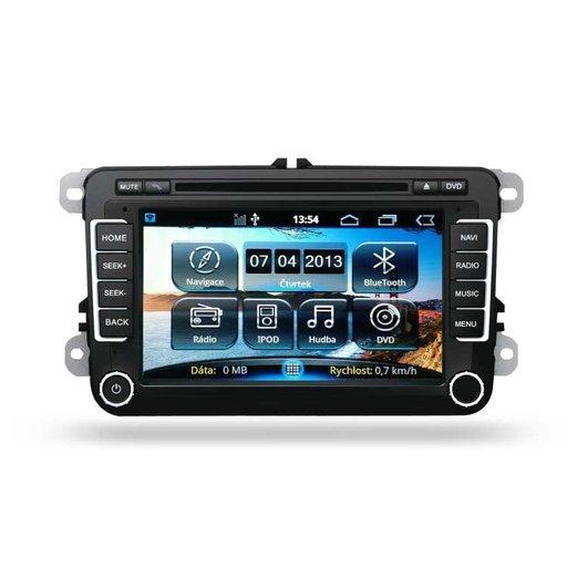 Navigatie dedicata cu GPS , Radio, Handsfree , DVD Ipod pentru Skoda Octavia 2 Fabia 2 Superb VW Golf 5 6 Passat B6 B7 Jetta cu sistem Android 4.3