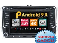 Navigatie Passat B6 B7 CC Golf 5 6 Jetta Tiguan Touran Eos Amarok Polo Sharan Android 9.0 2GB Ram NAVD-MT3700