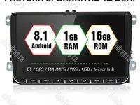 "Navigatie Volkswagen Android 8.1 Ecran 9"" inch - Internet, Waze, Bluetooth, USB, Camera Marsarier"