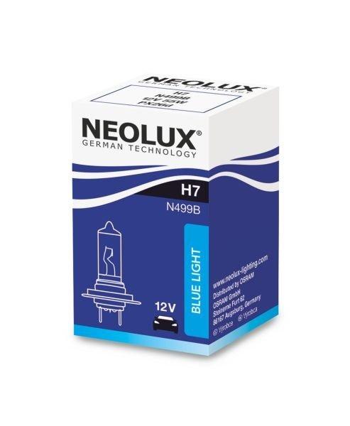 Neolux bec h7 12v 55w blue light lumina alba