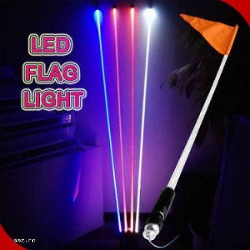 Nou! Cel mai cool accesoriu pentru off-road- Fanion cu LED -