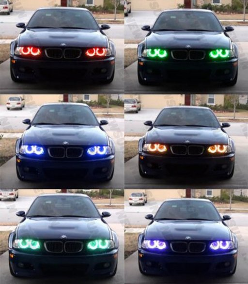 NOU ! Kit Angel Eyes Multi-Color BMW E36 E46 E39 E38 Seria 3 Seria 5 7