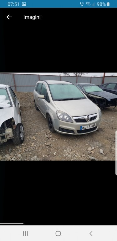 Opel zafira 16 benzina an 2007