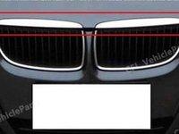 Ornament cromat capota fata BMW E90 E91 2005 2006 2007 2008 51137117241 51137117242