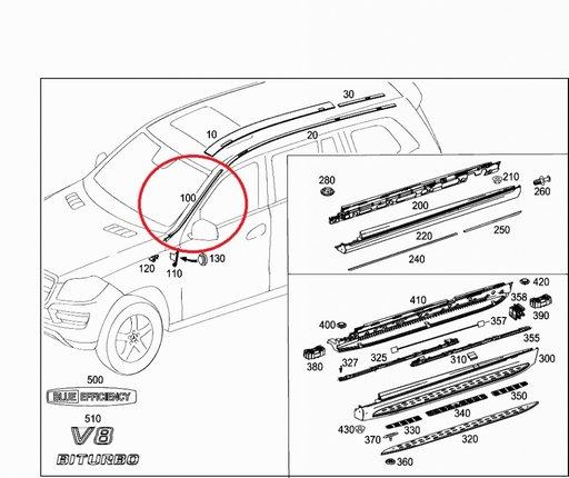 Ornament parbriz Mercedes GL-Klasse