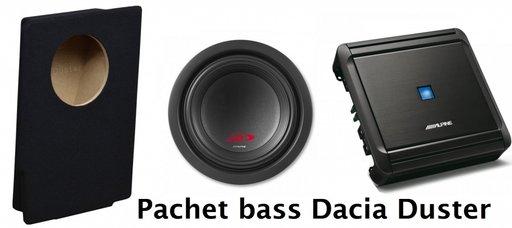 Pachet subwoofer ALPINE Dacia Duster 2009->