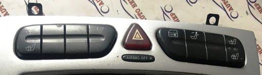 Panou buton avarii incalzire scaune Mercedes C-Cla