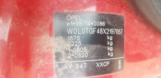 Panou sigurante Opel Astra G 2002 Hatchback 1.2 i