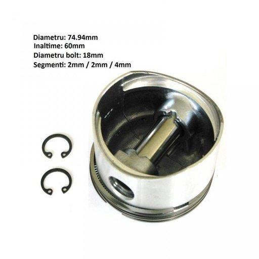 Piston compresor diametru 75 mm segmenti 2x2x4mm MAN Volvo Scania DAF | Piese Noi | Livrare Rapida