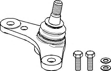 Pivot MINI MINI (R50, R53), MINI MINI Cabriolet (R52) - TOPRAN 501 065