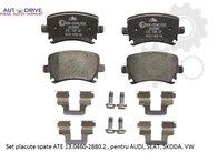 Placute frana spate, marca ATE 13.0460-2880.2, pentru AUDI, SEAT, SKODA, VW