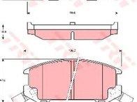 Placute spate Toyota MR2