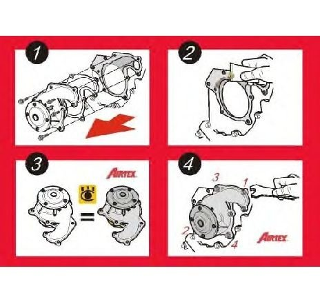 Pompa apa PEUGEOT 306 hatchback ( 7A, 7C, N3, N5 ) 01/1993 - 10/2003 - producator AIRTEX 1212 - 300264 - Piesa Noua