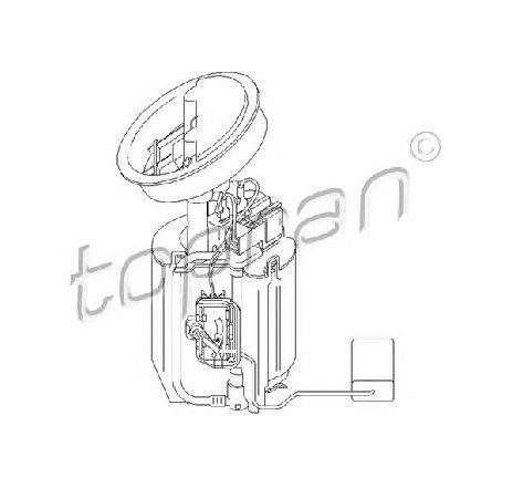 Pompa combustibil in rezervor combustibil MERCEDES CLK CABRIOLET ( A209 ) 02/2003 - 03/2010 - piesa NOUA - producator TOPRAN 401 956 - 304974
