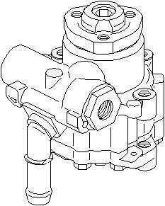 Pompa hidraulica servodirectie VW BORA 1J2 TOPRAN 112 447