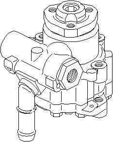 Pompa hidraulica servodirectie VW CADDY II caroserie 9K9A TOPRAN 112 447