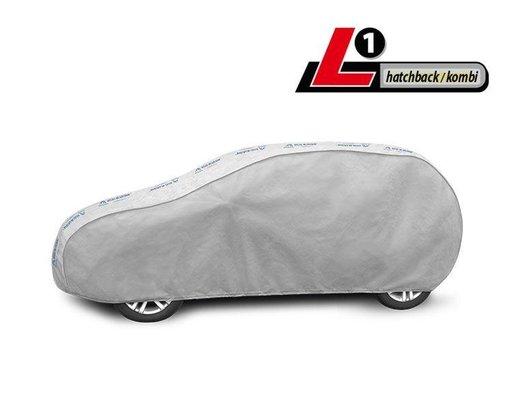 Prelata auto, husa exterioara Basic Garage L1 Hatchback/combi 405 – 430 cm