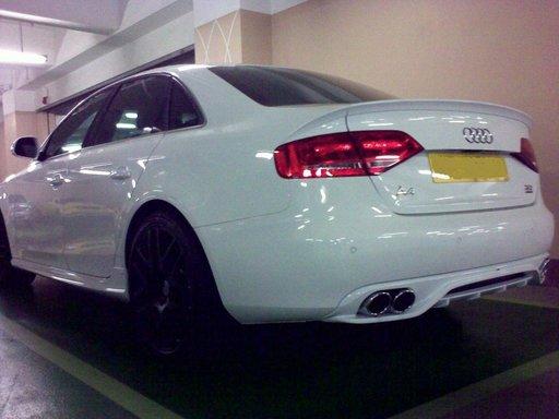 Prelungire difuzor bara spate Audi A4 B8 Sline RS4 S4 sedan 2008 ver1