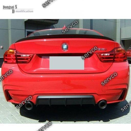 Prelungire lip buza spoiler evcuare bara spate BMW F32 Seria 4 435 430 M performance v2