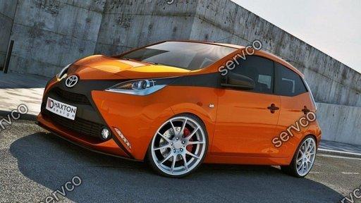 Prelungire splitter bara fata Toyota Aygo MK2 2014- v2