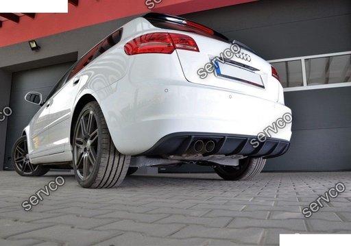 Prelungire spoiler difuzor bara spate Audi A3 8P Sportback Facelift Rs3 S3 S-line ver3