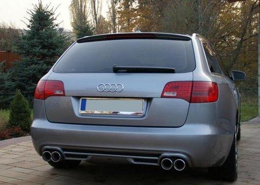 Prelungire spoiler difuzor bara spate Audi A6 C6 4F 2004 2005 2006 2007 2008 ABT Avant S line RS6 S6 ver. 1