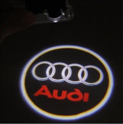 Proiector laser cu logo Audi pentru iluminat sub portiera
