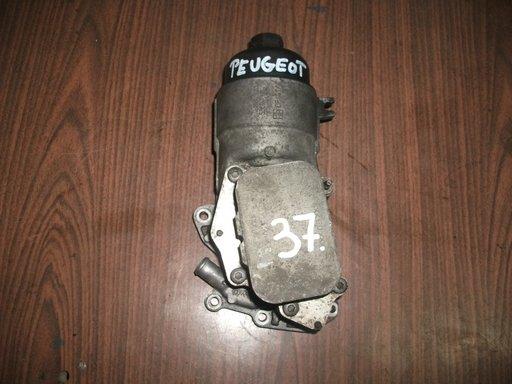 Racitor ulei, termoflot cu carcasa filtru ulei Peugeot 307, 308 1.6hdi, 9656970080