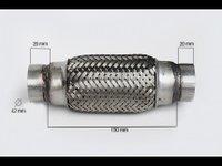 RACORD FLEXIBIL INNER & OUTER BRAID (B) 42x150 MM