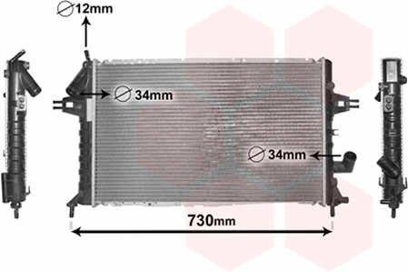 Radiator apa opel astra g 1.7 dti/cdti Van Wezel
