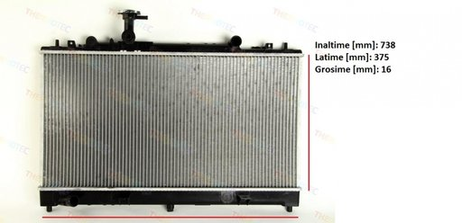 Radiator apa -RACIRE MOTOR- PENTRU MAZDA 6 RF5C-15-200 RF5C-15-200A