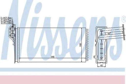 Radiator calorifer caldura VW LT 28-35 II bus (2DB