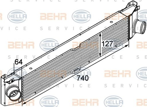 RADIATOR INTERCOOLER - HELLA - 8ML 376 746-021