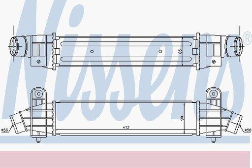 Radiator Intercooler - NISSENS - 96702