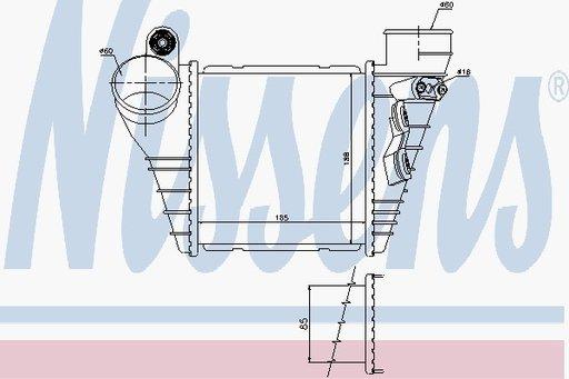 Radiator Intercooler - NISSENS - 96847