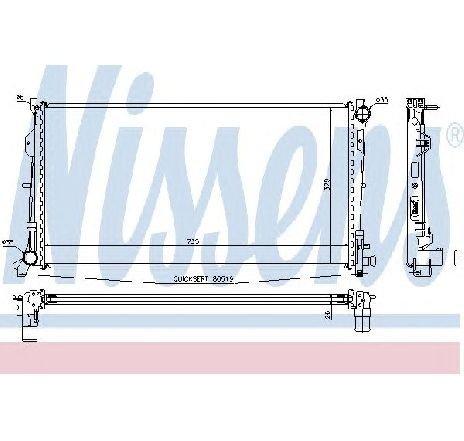Radiator, racire motor CHRYSLER VOYAGER IV ( RG, RS ) 09/1999 - 12/2008 - producator NISSENS 61018A - 300874 - Piesa Noua