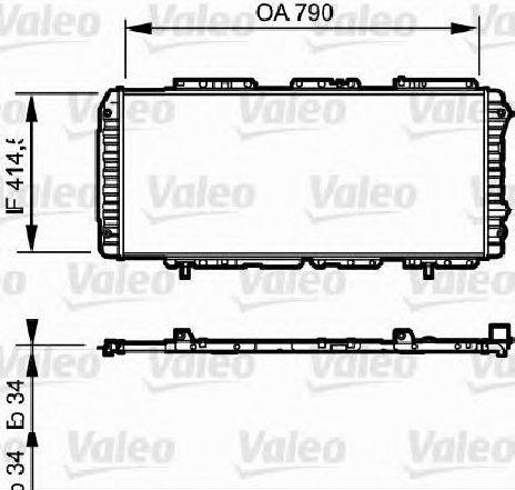 Radiator, racire motor FIAT DUCATO caroserie ( 230L ) 03/1994 - 04/2002 - producator VALEO 731611 - 300288 - Piesa Noua