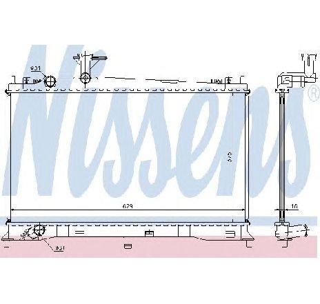 Radiator, racire motor MAZDA 6 Hatchback GG PRODUCATOR NISSENS 62462A