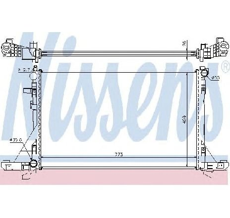 Radiator, racire motor OPEL MOVANO B bus 12/2010 - 2018 - producator NISSENS 630733 - 309566 - Piesa Noua