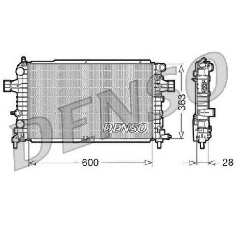 Radiator, racire motor OPEL ZAFIRA B ( A05 ) 07/2005 - 2018 - producator DENSO DRM20105 - 305425 - Piesa Noua