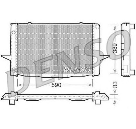 Radiator, racire motor VOLVO S70 ( LS ) 11/1996 - 11/2000 - producator DENSO DRM33041 - 303499 - Piesa Noua