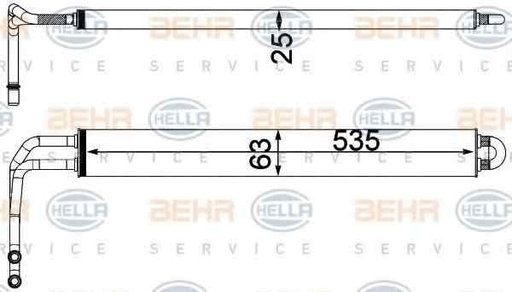 Radiator racire ulei sistem directie BMW 5 F10 F18 HELLA 8MO 376 750-781